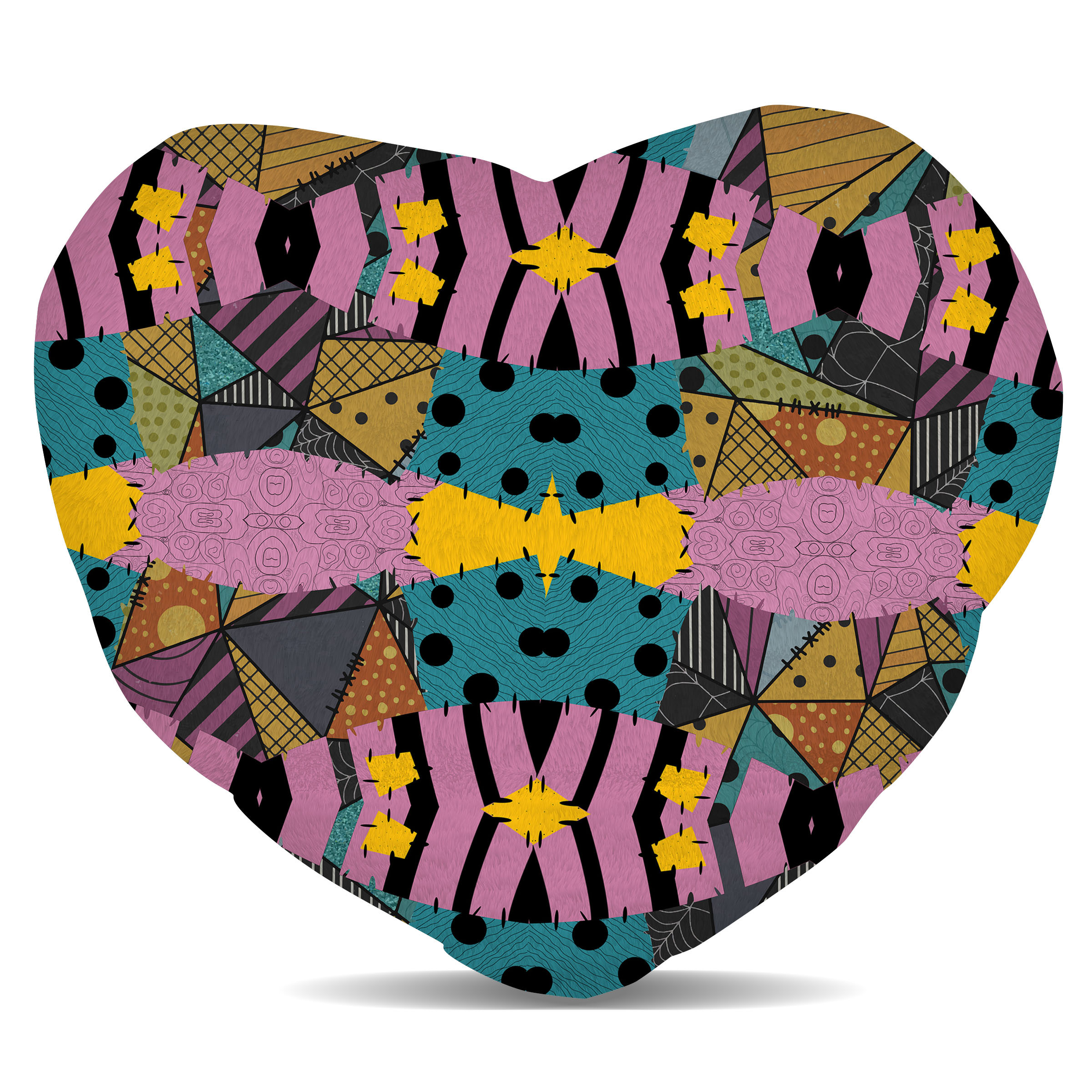 Ragdoll-Patchwork-Sally-Fleece-Cushion-Heart-Round-or-Square-Shaped-Pillow-Ca